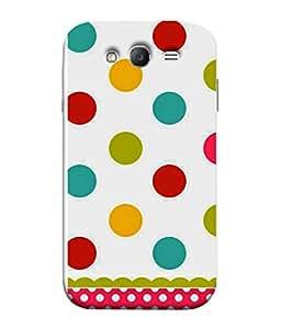 PrintVisa Designer Back Case Cover for Samsung Galaxy Grand Neo I9060 :: Samsung Galaxy Grand Lite (Colourful Circle Dot Pink Bindi Printed Cloth)