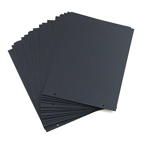miteux Scrapbooking Papier Schwarze Seiten Nachfüllseiten 21.3 x 15cm 20 Blättern für Scrapbook Fotoalbum (Schwarz Seiten)