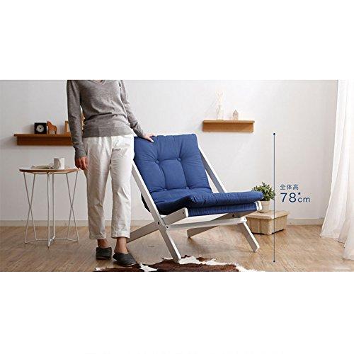 Chaise Longue Chaise pliante en bois massif Chaise chaise en bois de style nordique Chaise en hêtre (Couleur : Bleu, taille : A)