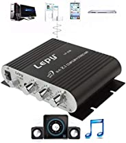 Lepy LP-838 Power Car Amplifier Hi-Fi 2.1 MP3 Radio Audio Stereo Bass Speaker Booster Player for Motorbike Hom