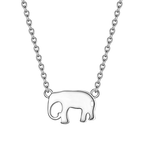 Glanzstücke München Collar de Mujer/Cadena con Colgante Elefante Plata esterlina/Plata de ley 40 + 5 cm