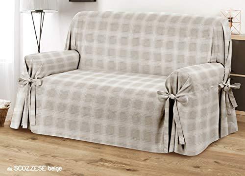CapitanCasa Funda de sofá con Lazos