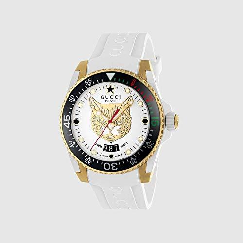 Gucci Uhr Dive cauuciu wei-gehuse pvd Gold-gelb YA136322 (Gucci Uhren)