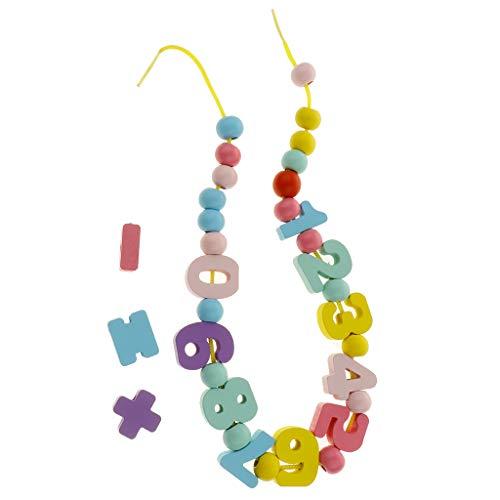 KESOTO Mehrfarbige Fädelspiel Fädelklötze Perlen Threading String Schnürung Kinderspiel Pädagogisches Spielzeug - String-käse