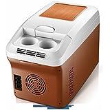 GBT Refrigerador de doble uso del refrigerador de la caja fría del coche dual 12V / 220V del coche de 15L,marrón,15L