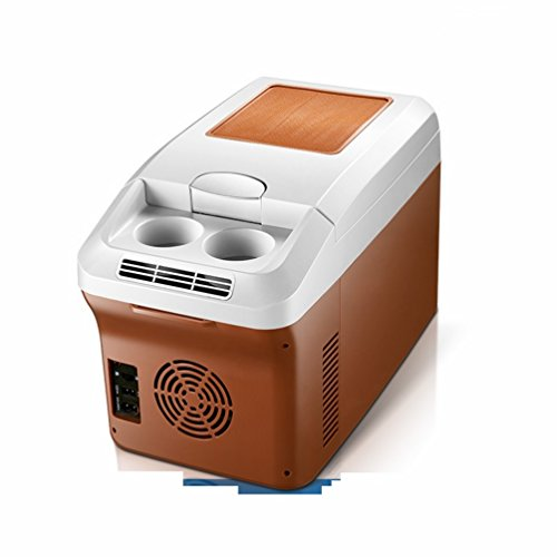 GBT 15L Dual-Core-Auto-Kühlschrank 12V / 220V Auto Dual-Dual-Use-Kühlbox Kühlschrank Gefrierschrank,Braun,15L -