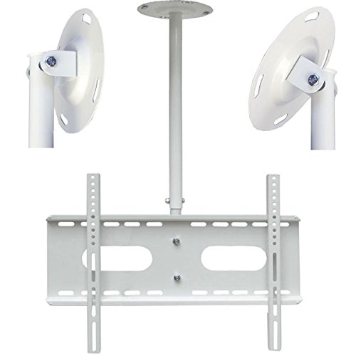 Fair Style Decken-/Wandhalterung weiß , ausziehbar bis 1m, Neigung +5°/- 20°, geeignet für TV und Monitore bis 177 cm Diagonal (70 Zoll) mit VESA Normen in cm: 10x10   20x10   20x20   30x30   30x40   40x30   40x40   50x40   60x40, universell passend für alle Monitore und TV-Marke, in bewährte Fair Style-Qualität, Model 9634