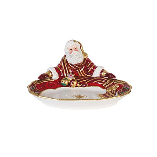 Fitz and Floyd 49-664 Renaissance Holiday Santa Server Servierschale, Steingut, Serving Bowl Fitz Floyd Santa