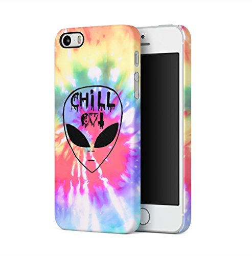 Chill Alien Space Tye Dye Trippy Tumblr Kompatibel mit iPhone 5 / iPhone 5S / iPhone SE SnapOn Hard Plastic Phone Protective Fall Handyhülle Case Cover