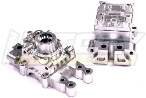 Integy RC Model Hop-ups T8370SILVER Alloy Transmission Case for Associated Mini MGT 3.0 | Belle