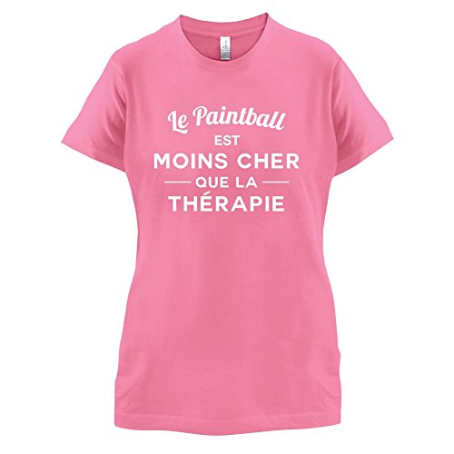 Le paintball est moins cher que la thérapie - Femme T-Shirt - 14 couleur Azalée