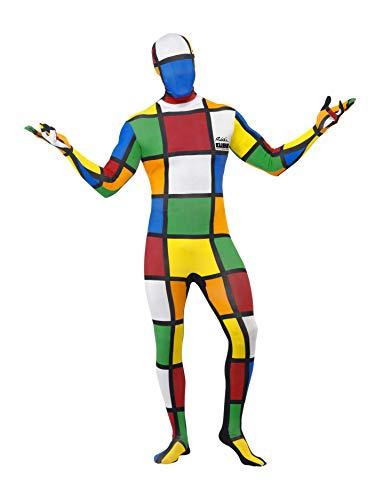 Smiffys Herren Second Skin Zauberwürfel Kostüm, Ganzkörperanzug