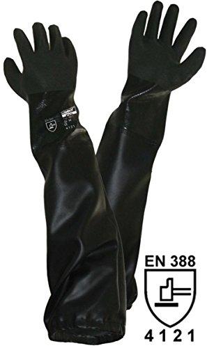 Unbekannt Griffy PVC Sandstrahlerhandschuh Größe (Handschuhe): Herrengröße EN 388 CAT II L+D 1485 1St.