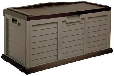 Auflagenbox / Gartenbox / Kissenbox XXL MIT SITZFLÄCHE ca. 142 x 62 x 74 cm / NEU Farbe: mocca braun von Starplast