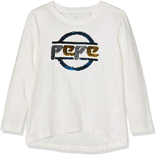 Pepe Jeans Heidi JR PG501948, Camiseta para Niñas, Blanco (Off White 803), 6 años