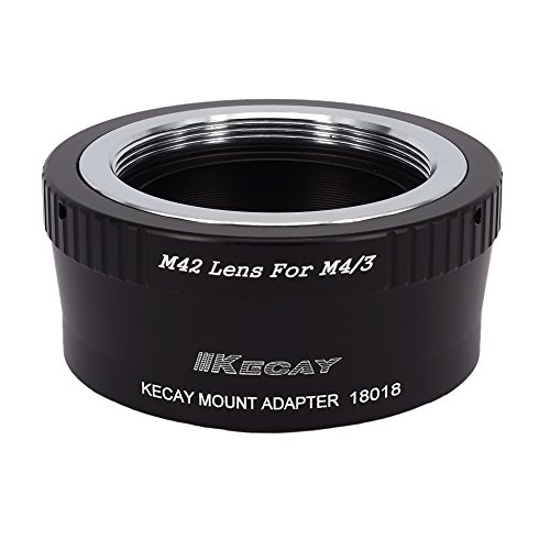 KECAY Objektiv Adapter M42 Screw Mount Objektiv auf Micro 4/3 Four Thirds System Kamera für Olympus/Panasonic Lumix M42-M4/3 M42 Screw Mount