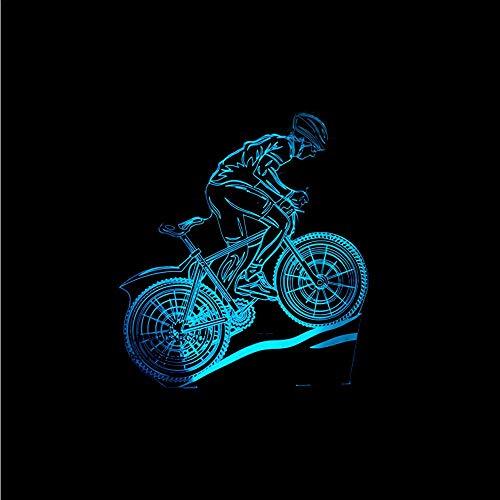Dwthh Led Usb 3D Lampe De Vélo Led Décoration De Table Lampe Co Enfant Chambre 3D Lampe De Table Vintage