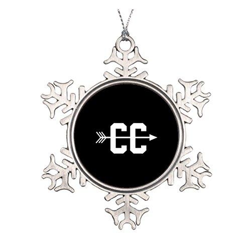 (Cross Country CC Keramik rund Weihnachten Ornament)