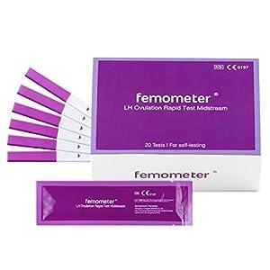 Femometer 20 fortgeschrittene Ovulationstest,20 miu/ml optimaler Sensitivität, Eisprung-Test zur Bestimmung der fruchtbaren Tage bei Kinderwunsch oder zur natürlichen Verhütung