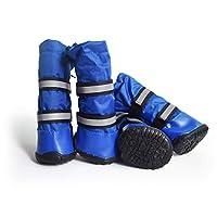 FDBF Winter Pet Dog Shoes Waterproof Rain Boots Anti-slip Snow Boots Footwear