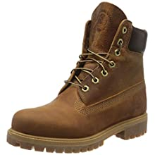 Timberland Heritage 6 Inch Premium, Men's Ankle Boots Lace-up Boots, Brown (Medium Brown Nubuck), 8 UK ( EU)