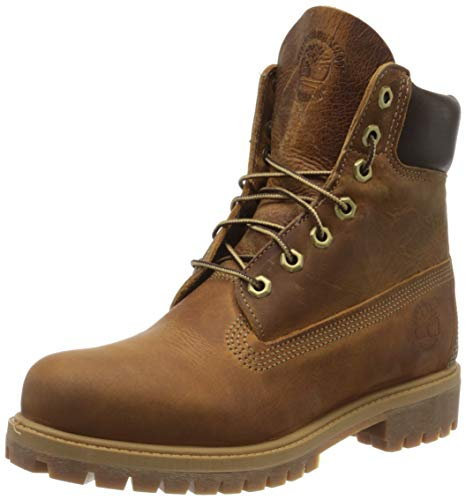 Timberland Heritage 6 Inch Premium Waterproof Stivali Uomo, Marrone (Medium Brown Nubuck), 40 EU