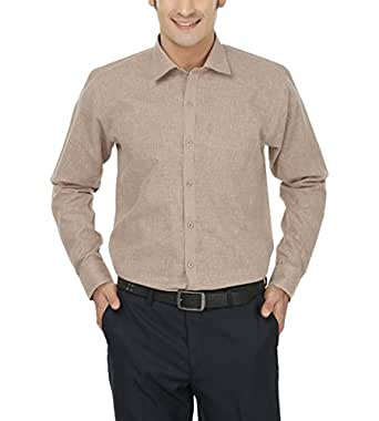 Jay & u Men's Cotton Linen Blend Formal Shirt