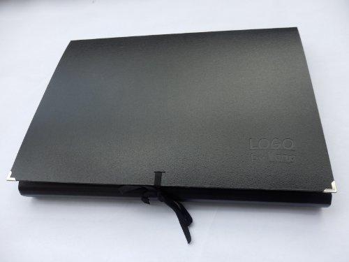 Zeichenmappe, Künstlermappe 'Logo' schwarz B2+, 51,0 x 72,0 x 3 cm