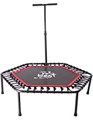 Best For Sports Fitness Trampolin, Bungee-Seil-System, Ø 110 cm, bis 130 kg Benutzergewicht TÜV geprüft