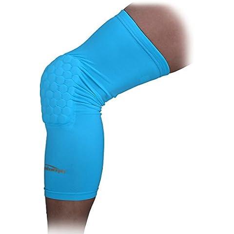 COOLOMG lunga ginocchiera antiscivolo Crash prevenzione–Ginocchiera Thermo F & # 252; r donna e uomo, 1St & # 252; CK, XS–XL, Hellblau, XL