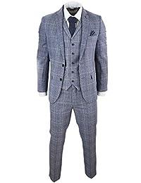 Harry Brown Abito Grigio Blu Stile Principe di Galles Vintage Vestibilita   Slim d0e5eab8663