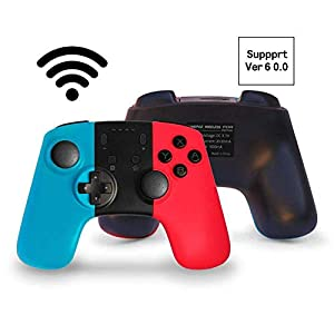 JFUNE Wireless Pro Controller für Nintendo Switch, Controller und Remotes Gamepad Bluetooth für Nintendo Switch 9.0 (Blau + Rot)