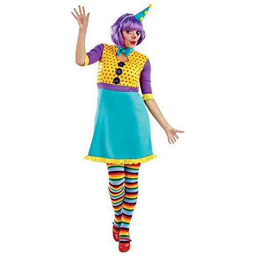 Fun Shack Damen Costume Kostüm, Party Clown, L