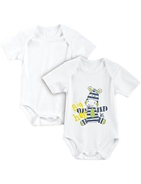 Baby Butt Body 2er-Pack mit Druckmotiv Zebra