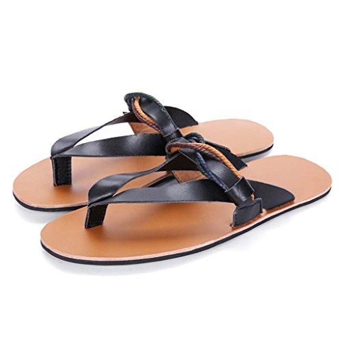 ZXCV Scarpe all'aperto I sandali aperti dell'uomo dei sandali di estate tendono a calzare le scarpe da sole in gomma antiscivolo Nero