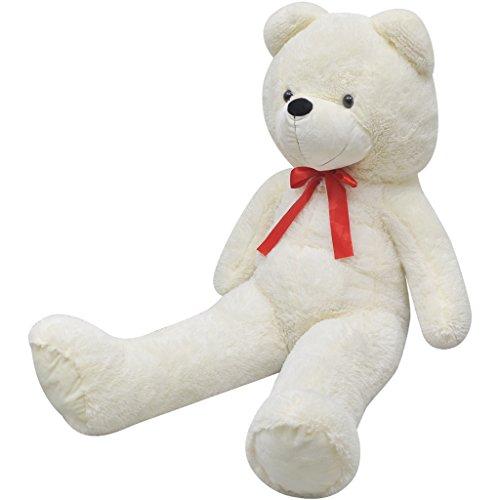 Festnight XXL Plüschbär Teddybär Plüschspielzeug Plüsch Teddy Kuscheltier Plüsch-Teddybär 200 cm für Baby Kinder Mädchen - Weiß (Teddy Bear Für Mädchen)