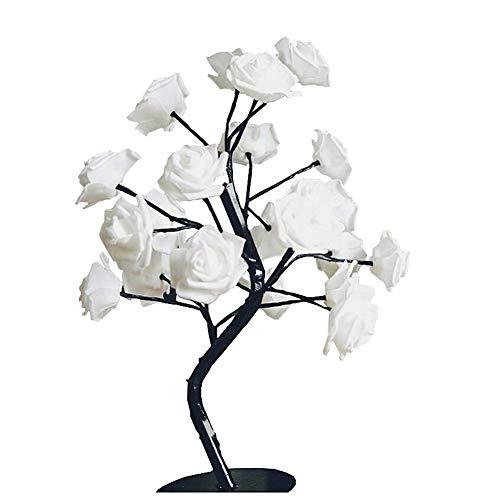 LED Rosen Stehbaum Lampe, 24 Blume Flexible Zweig Baum Lichter IP55 Wasserdicht Light 45 CM Hoch Nachtlicht Dekoration Für...