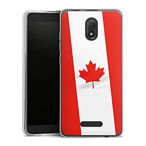 DeinDesign Silikon Hülle kompatibel mit Wiko Jerry 3 Case Schutzhülle Kanada Flag Flagge (Jerry Kanada)