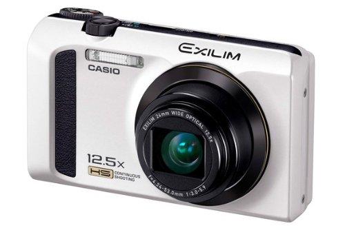 Casio Exilim EX-ZR300 Digitalkamera (16,1 Megapixel, 7,6 cm (3 Zoll) Display, 25-Fach Multi SR Zoom, 24mm Weitwinkel, HS-Nachtaufnahme, HDR) weiß Casio Exilim