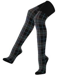 Lavazio® Damen Strumpfhose Strickstrumpfhose im angesagtem Schottenkaro
