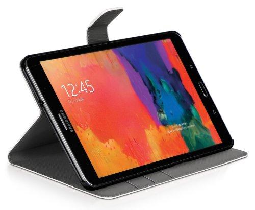 DONZO Wallet Washed Tablet Tasche für Samsung Galaxy Tab Pro 8.4 T320 T325 Weiß - 6