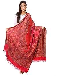 Pashtush Women's Kashmiri Jamawar Shawl, Jacquard palla, Warm and soft, Faux Pashmina