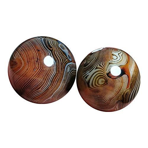 Bolas antiestrés de Jade chino, bolas de cebo de cristal, bolas de mano de...
