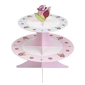Neviti 598489Vintage Rose-Soporte para tartas