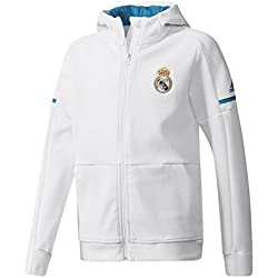 adidas Anth Sqd y Chaqueta Línea Real Madrid, Niños, Blanco, 164