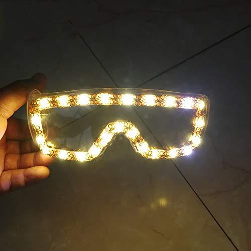 Relubby Schöne Led Sonnenbrillen, Anti-Impact Schutzbrillen Für Augenschutz, PC Objektive Flash Shutter Neuheit Leuchtende Brille