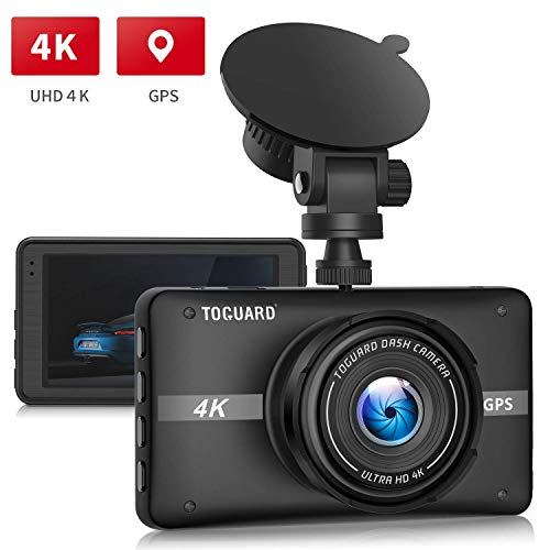 TOGUARD 4K Dash Cam Built-in GPS Dash Camera for Cars Recorder 3'' LCD 170° Wide Angle Car Dashboard Camera with Night Vision, 24Hs Parking Mode, G-Sensor, Time Lapse, NO WIFI Function