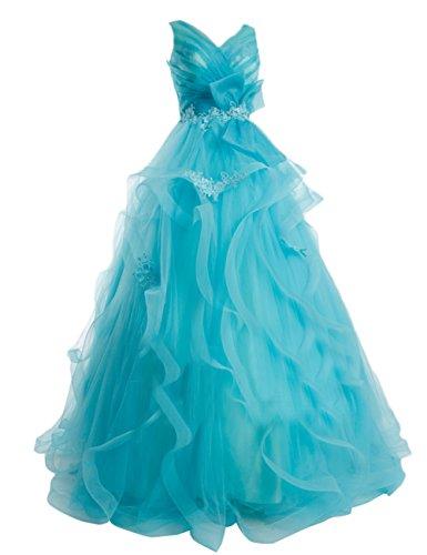 Dresstells, robe longue de soirée formelle dos nu mode de bal, robe de cérémonie col en V sans manches Pourpre