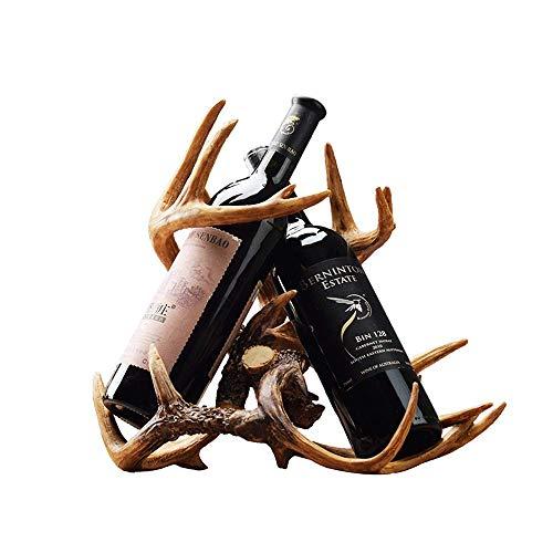 Vinteen Kreative Harz Geweih Weinregal Home Amerikanischen Nordeuropäischen Weinregal Dekoration Wohnzimmer Fernsehschrank Weinkühler Dekoration