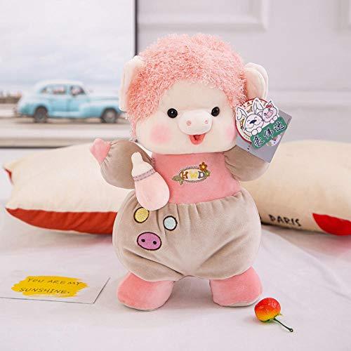 yfkgh Schnuller Schwein Figur, Plüschtier, Schnuller Schwein, Baby Komfort Puppe Puppe@Schnullerschweinchenfigur pink_40 cm - Schwein-schnuller